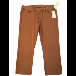 Michael Kors Caramel Stretch Skinny Capri Jeans